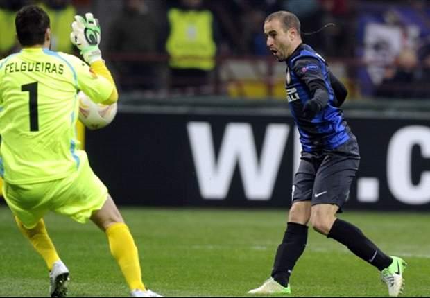"""L'Inter supera il Cluj con una sua doppietta, ma Palacio pensa ad altro: """"Non sarà facile sostituire Milito, Diego fa sempre la differenza"""""""
