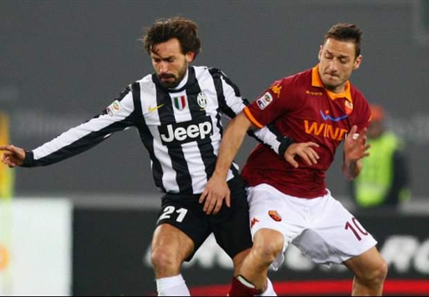 Roma 1 x 0 Juventus: Totti marca golaço e quebra tabu de nove anos