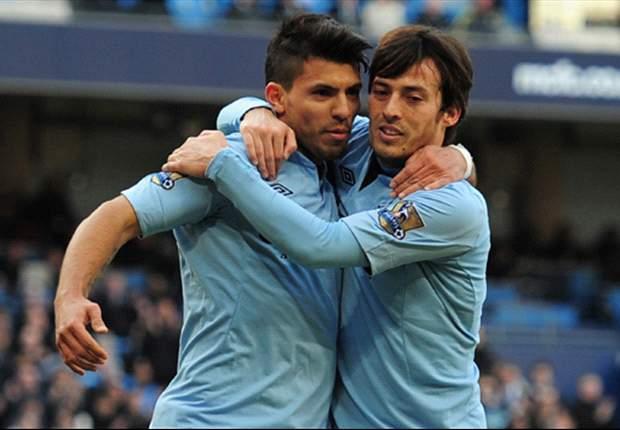 Agüero en Silva tikken City bij laatste vier