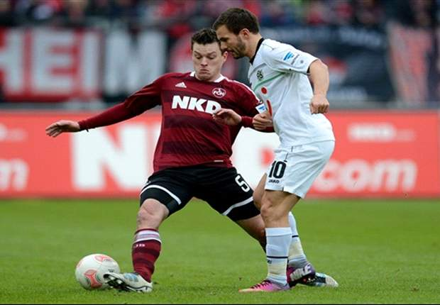 1. FC Nürnberg erkämpft sich dank Last-Minute-Treffer einen Punkt gegen Hannover 96