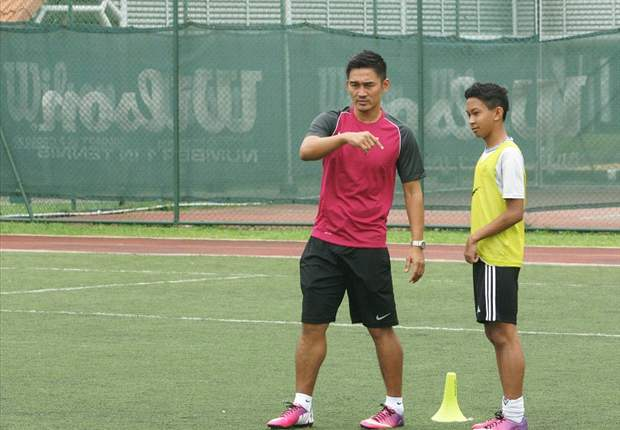 Six boys handpicked by Nazri Nasir for NFA Under-15 training at Nike camp