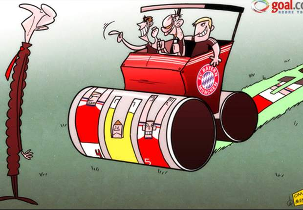 La aplanadora del Bayern Munich