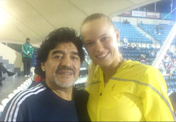 Dos Número 1: Maradona y Wozniacki