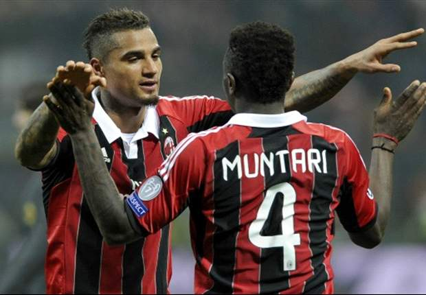 Kevin Prince Boateng and Sulley Muntari