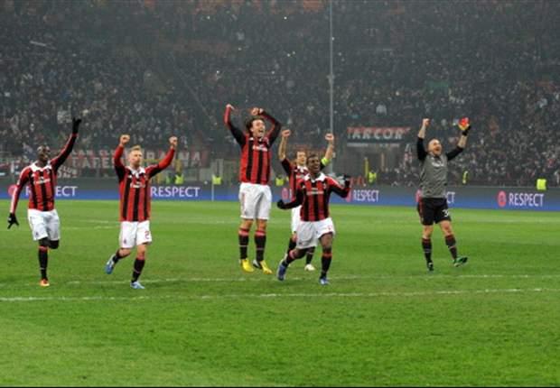 Milan comemora vantagem sobre o Barcelona