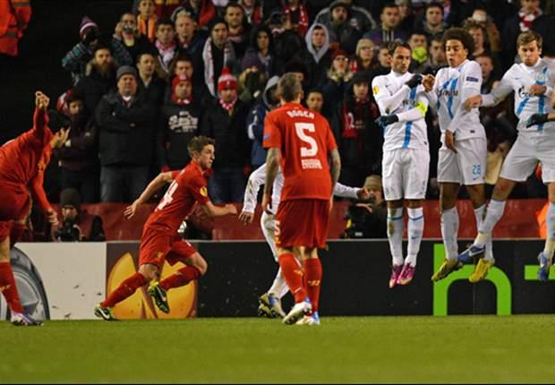 Liverpool komt net tekort tegen Zenit