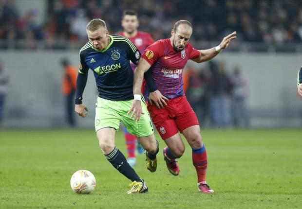 Liga Europa: Ajax é eliminado pelo Steua e Bordeaux passa pelo Dynamo de Kiev