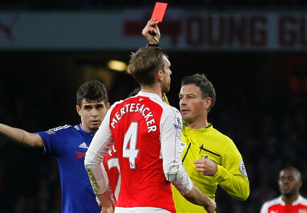 Wenger: Costa got Mertesacker sent off