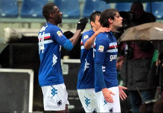 Sampdoria kruipt naar boven
