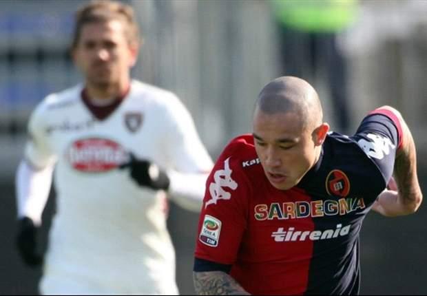 Serie A, 26ª giornata - Roma corsara sul campo dell'Atalanta, la Juventus supera il Siena, vittorie anche per Catania e Cagliari. Pari nel derby tra Inter e Milan