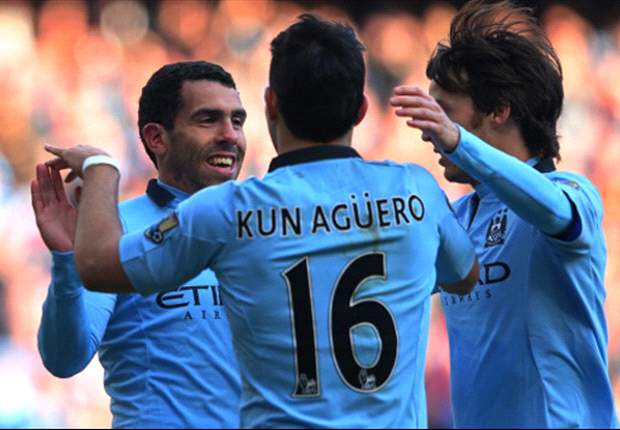 TEAM NEWS: Tevez replaces injured Aguero for Manchester City's trip to Aston Villa