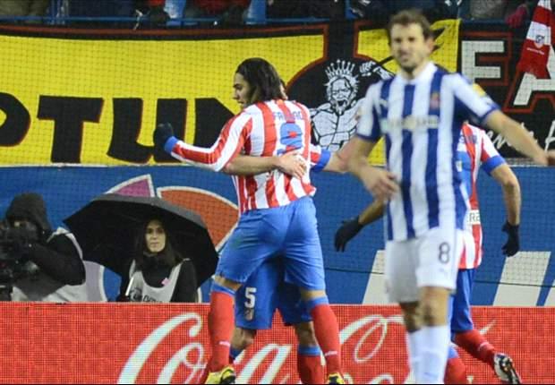 Falcao y los Colchoneros se aferran a La Liga