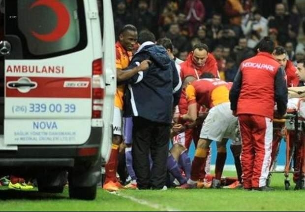 Drogba visitó a Barral en el hospital