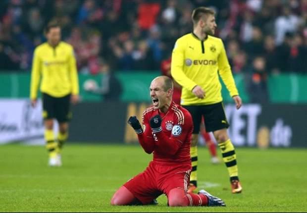 Bayern en Robben houden 'treble' in zicht
