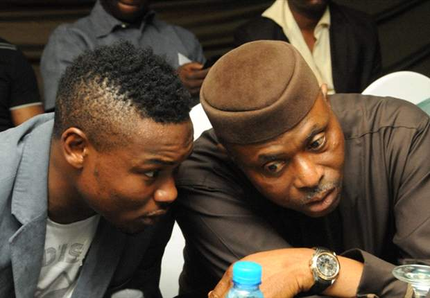 Oboabona with Governor Mimiko at dinner in his honour
