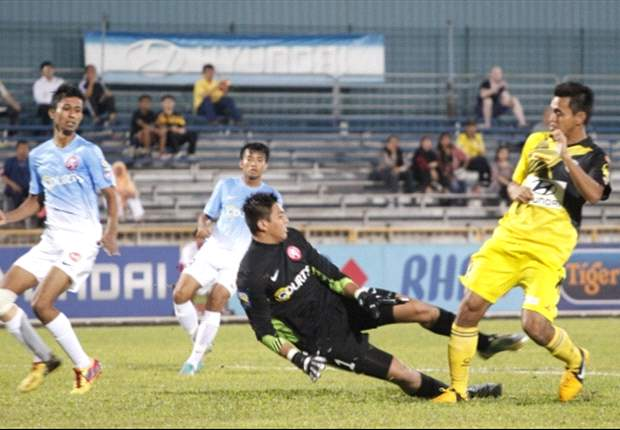 Young Lions goalkeeper Rudy Khairullah was in fine form despite the defeat