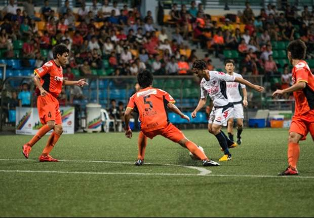 Indra Sahdan scored for Home United, but his side still lost eventually