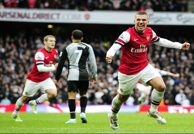 Podolski: Arsenal against Tottenham is something special