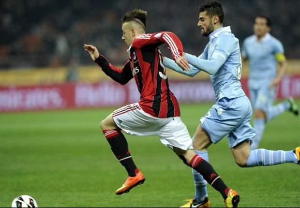 Milan-Lazio al veleno, rosso a Candreva su indicazione di Ambrosini: Rizzoli non aveva visto l'autore del fallo!
