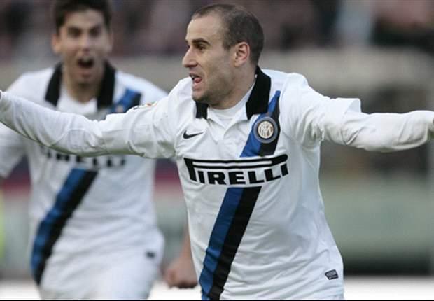 Palacio grandi numeri nel 2013: 12 goal in A, 2 in Coppa Italia, 8 in Europa League