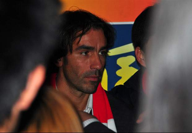 Former Arsenal star Robert Pires in Guangzhou, China