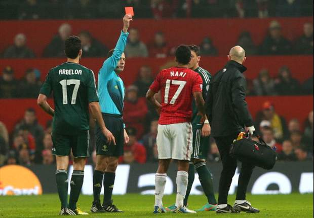 Nani red card referee Cakir misses out on Champions League quarter-final again
