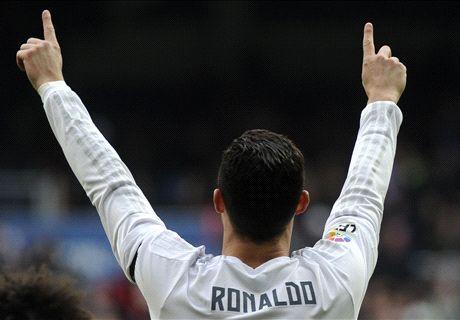 Cristiano Ronaldo supera a Luis Suárez a costa del Athletic de Bilbao, una de sus víctimas favoritas