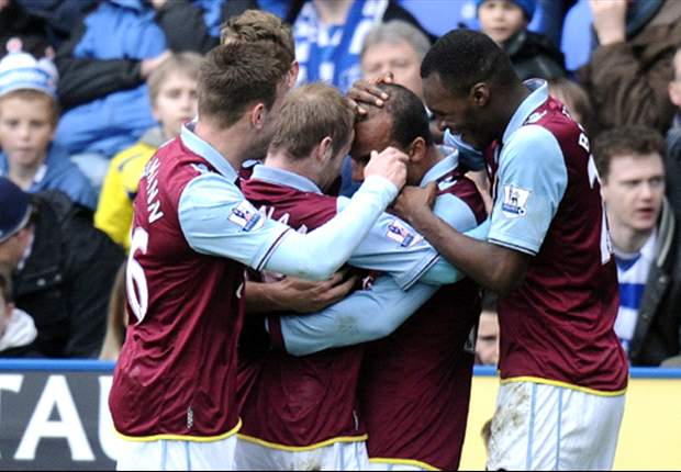 Reading 1-2 Aston Villa: Benteke & Agbonlahor lift Lambert's men out of bottom three