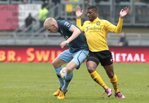 Feyenoord wint enigszins gelukkig van Roda
