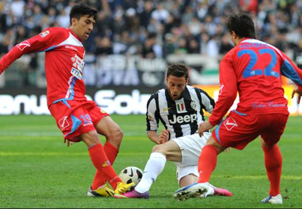 Juventus 1-0 Catania: Late Giaccherini strike moves hosts nine points clear