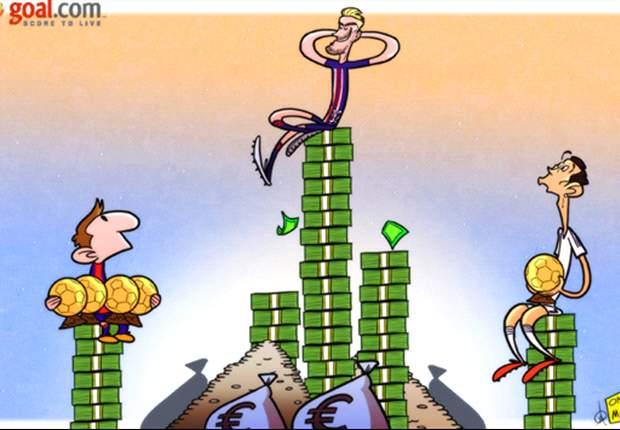 Beckham, sobre una pila de dinero