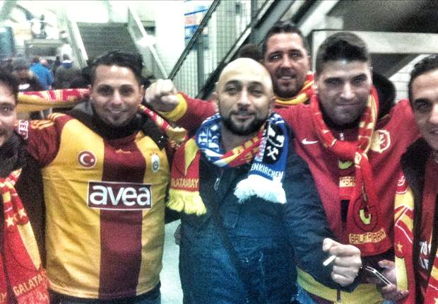 Galatasaray fans attempt to dig Veltins Arena tunnel