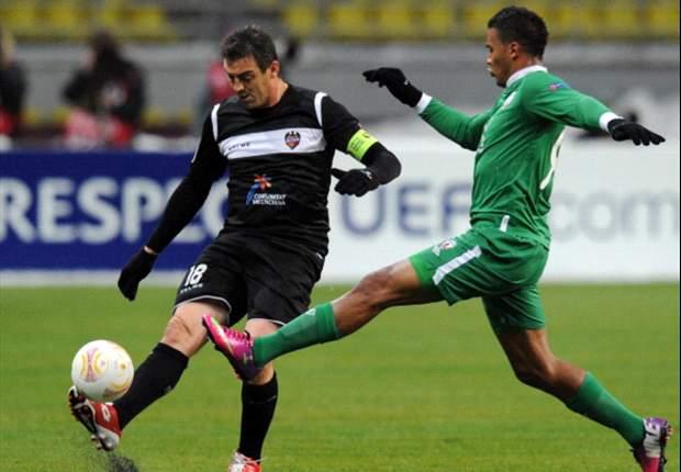 Rubin Kazán 2-0 Levante: Rondón y Dyadyun despiertan a los españoles del sueño