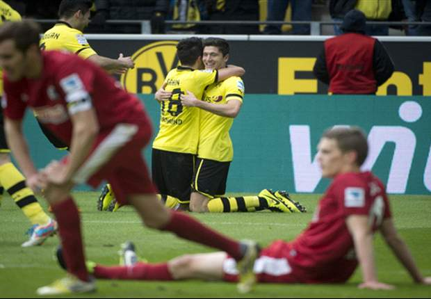 Borussia Dortmund 5-1 Freiburg: Lewandowski and Sahin both net twice in convincing victory