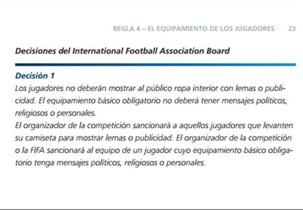 ¿Es antirreglamentaria la camiseta de San Lorenzo?
