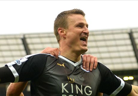 Huth double as Leicester beat Man City