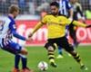 Borussia Dortmund midfielder Ilkay Gundogan on the ball versus Hertha Berlin