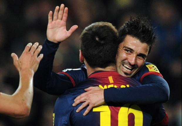 Barcelona 3-1 Rayo Vallecano: Messi and Villa combine for straightforward win
