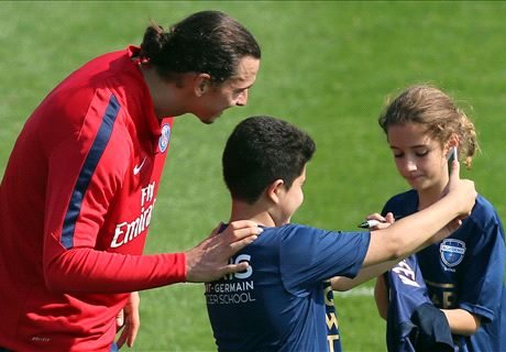 'Ibra trains like a kid on his first day'