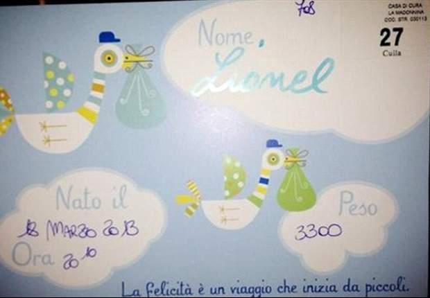 カッサーノに第2子誕生 名前は「リオネル」
