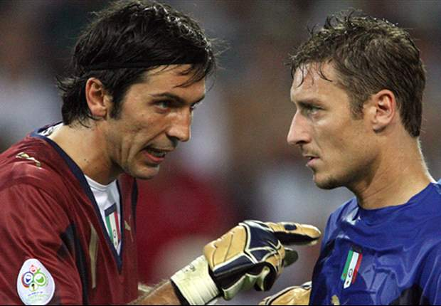 Totti may still have Italy future, hints Buffon