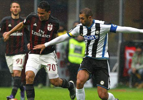 AC Milan bijt zich stuk op Udinese