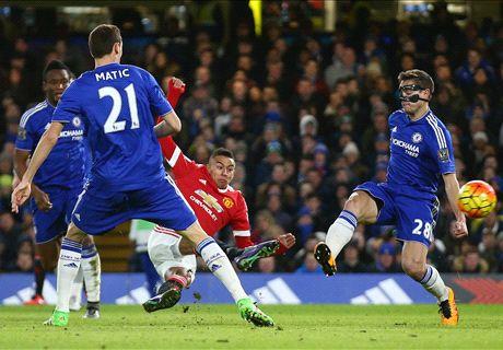Diego Costa redt Chelsea tegen United