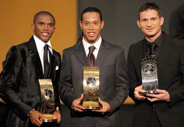 Ronaldinho, Lampard, Samuel Eto'o at FIFA World Player Gala 2005