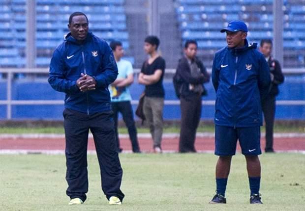 Jacksen dan RD saat berduet menangani timnas senior jelang melawan Arab Saudi pada laga grup C Pra Piala Asia 2015.