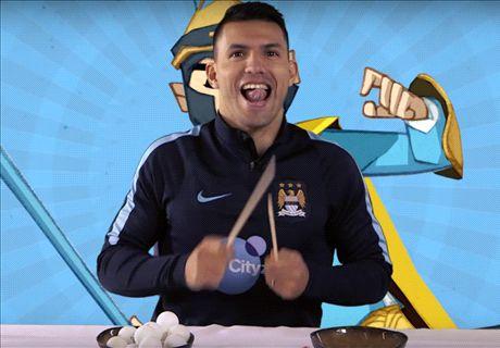 Man City stars in Chopstick Challenge