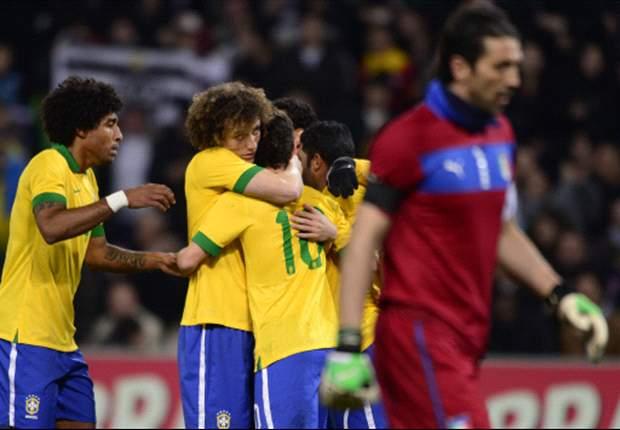 Italia 2-2 Brasil: Daniele De Rossi y Mario Balotelli rescatan a la 'Azzurra'