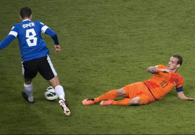 Wesley Sneijder se lesiona con Holanda y es duda frente al Real Madrid