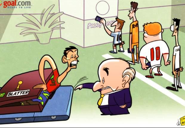[만평] 호날두, 브라질 못 가는 거야?