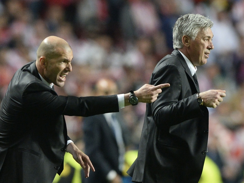 Who has a better record at Real Madrid - Zidane or Ancelotti?